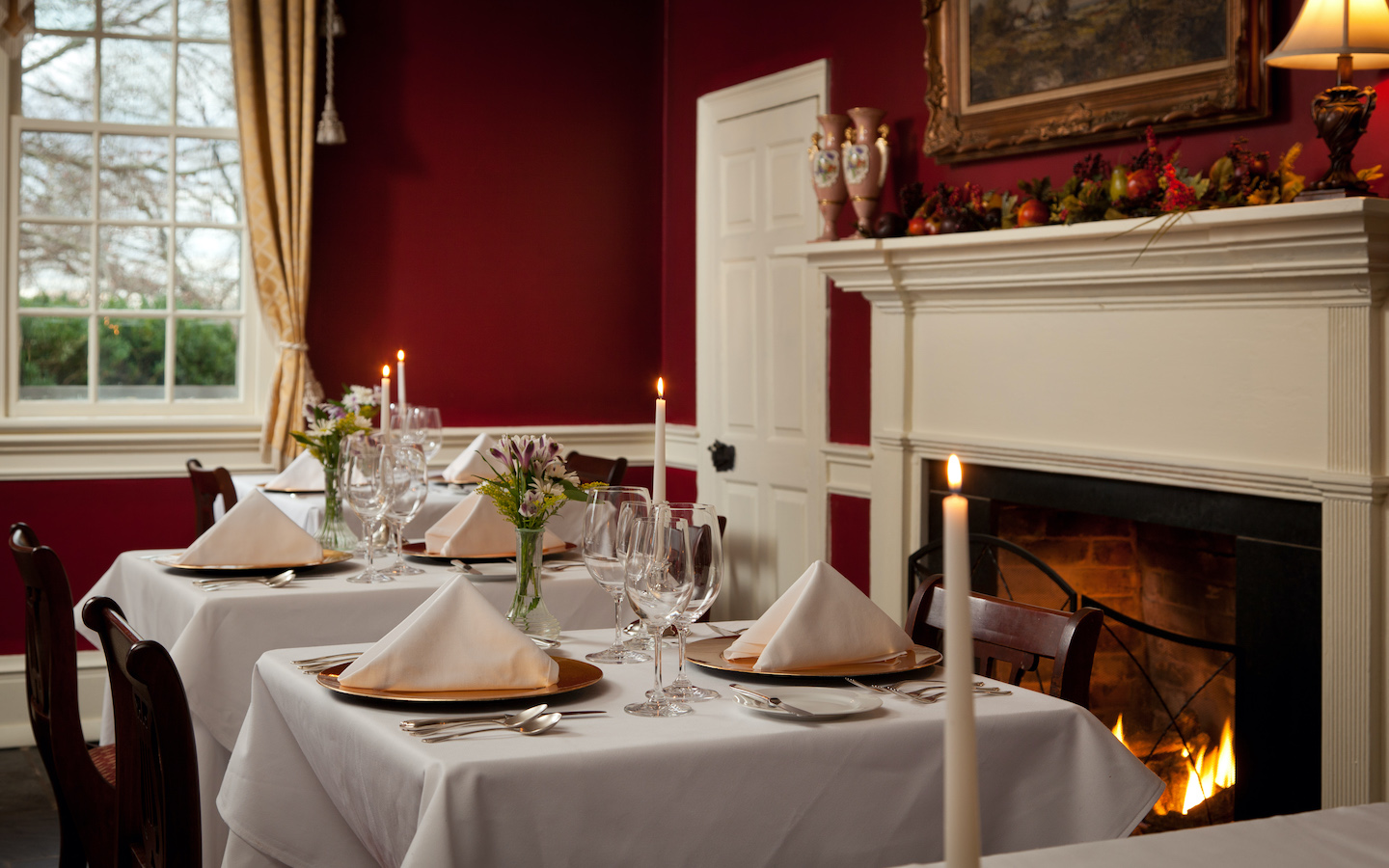 Enjoy casual dinning in our Colonial inspired tavern